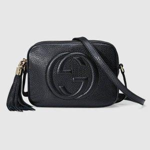 NWT Gucci Soho Small Leather Disco Bag Black ichei